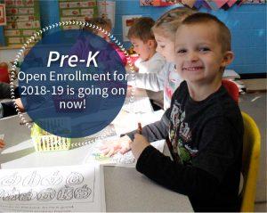 Pre-K open enrollment 2018-19